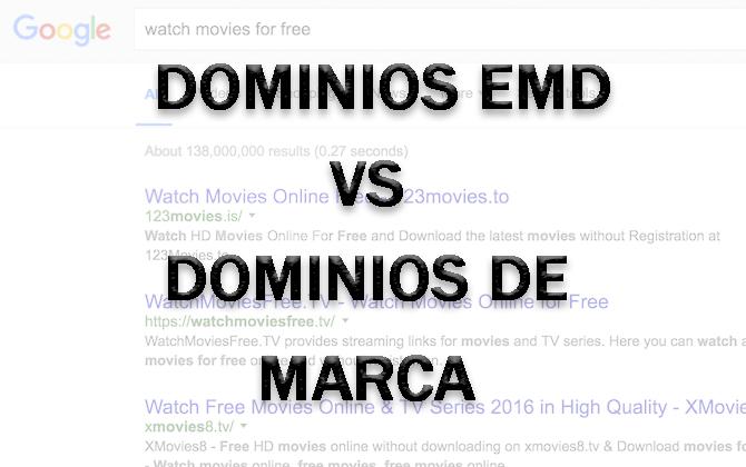 Dominios EMD y dominios de marca