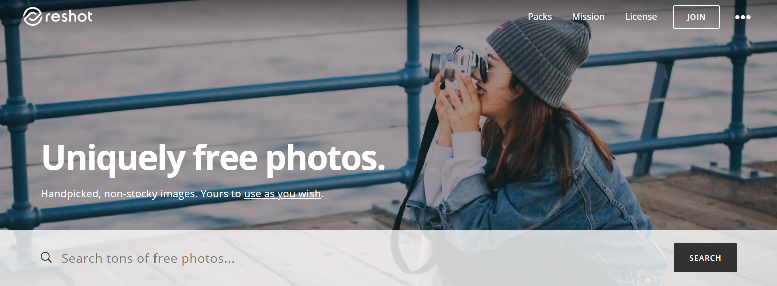 bancos de imágenes gratuitas reshot