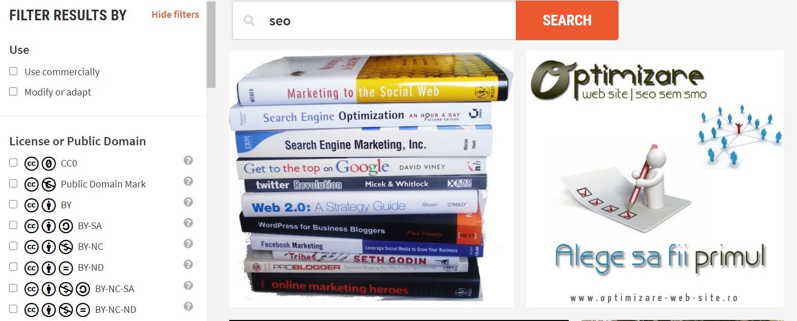 bancos de imágenes gratuitas Creative Commons Search