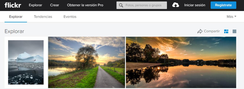 bancos de imágenes gratuitas flickr