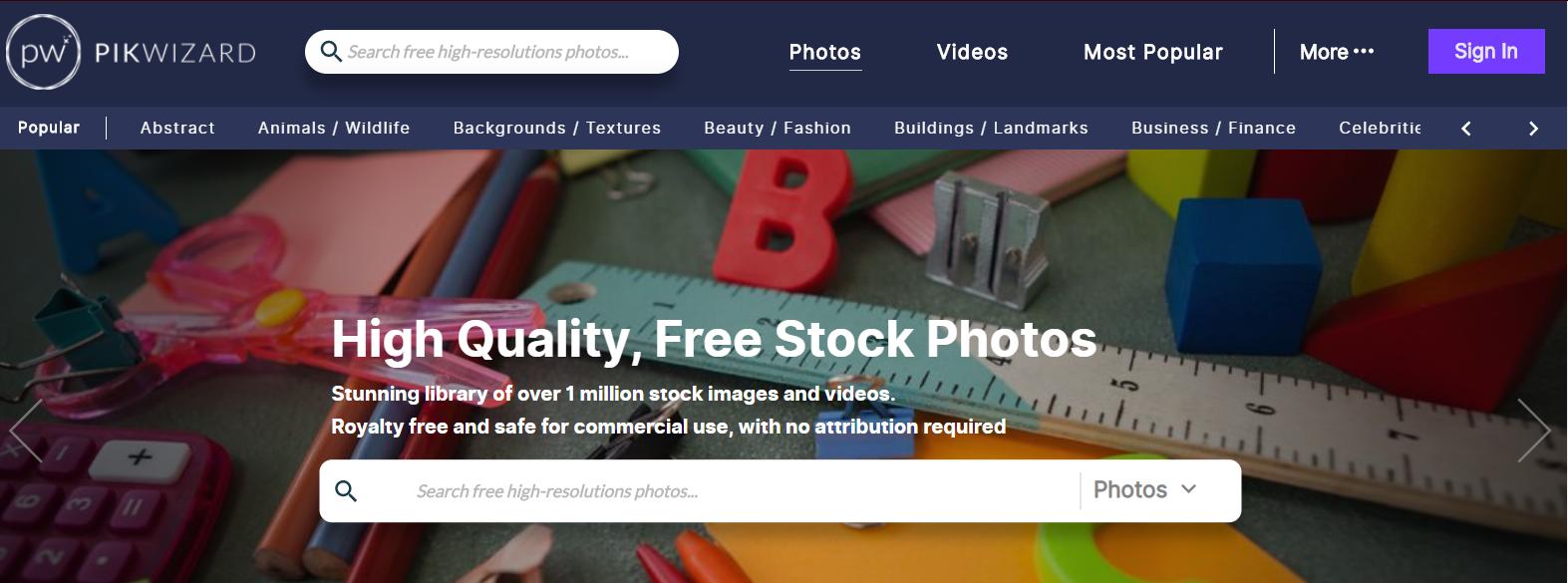 bancos de imágenes gratuitas pickwizard