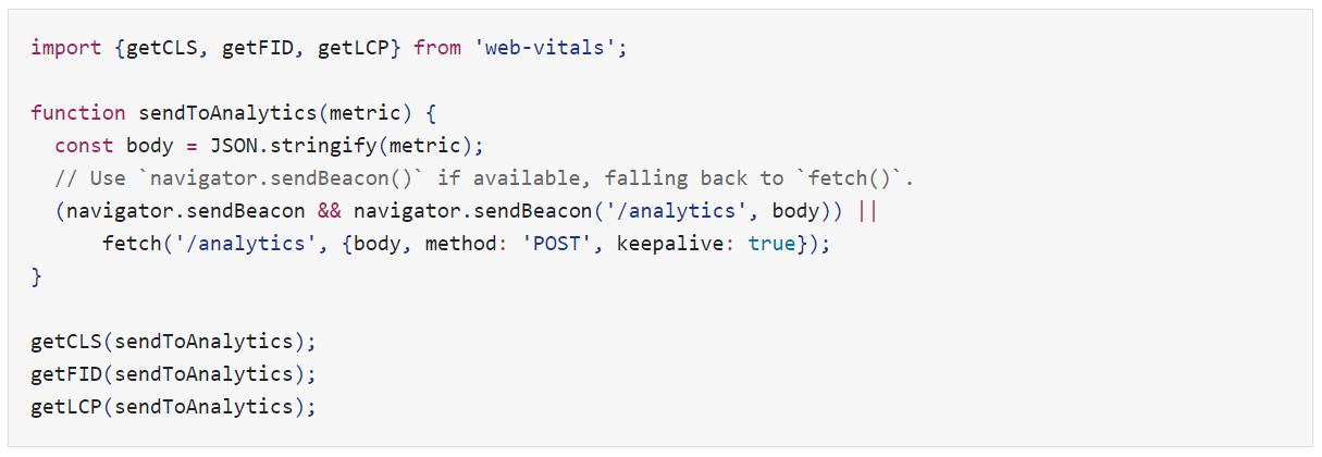 core web vitals java script