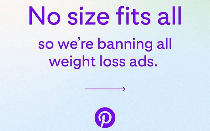 pinteresr prohibe anuncios pérdida de peso